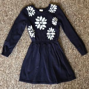 Gymboree winter sweater dress with snowflakes
